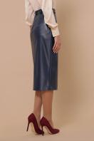 синяя кожаная юбка. юбка мод. №40. Цвет: синий цена