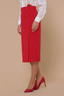 черная юбка ниже колена. юбка мод. №42. Цвет: красный купить