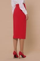 черная юбка ниже колена. юбка мод. №42. Цвет: красный цена