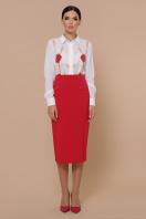 черная юбка ниже колена. юбка мод. №42. Цвет: красный в интернет-магазине