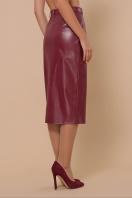 синяя кожаная юбка. юбка мод. №40. Цвет: бордо цена