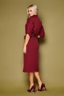 синее платье плиссе. платье Заира д/р. Цвет: бордо в интернет-магазине