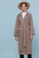 темно-серое шерстяное пальто. Пальто П-347-110. Цвет: 1-коричневый купить