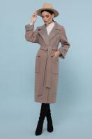 темно-серое шерстяное пальто. Пальто П-347-110. Цвет: 1-коричневый цена