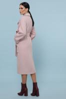 темно-серое шерстяное пальто. Пальто П-347-110. Цвет: 3-пудра в интернет-магазине