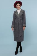 темно-серое шерстяное пальто. Пальто П-347-110. Цвет: 12-т.серый купить