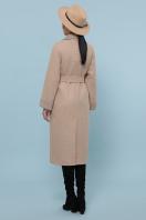 темно-серое шерстяное пальто. Пальто П-347-110. Цвет: 5-бежевый в интернет-магазине