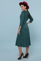 изумрудное платье из замши. платье Ариадна д/р. Цвет: изумруд в интернет-магазине