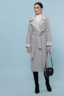 темно-серое шерстяное пальто. Пальто П-347-110. Цвет: 15-св.серый купить
