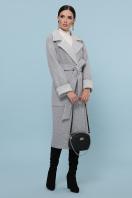 темно-серое шерстяное пальто. Пальто П-347-110. Цвет: 15-св.серый цена