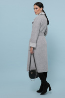 темно-серое шерстяное пальто. Пальто П-347-110. Цвет: 15-св.серый в интернет-магазине