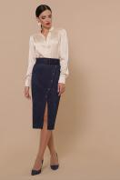 синяя юбка из замши. юбка мод. №41. Цвет: синий в Украине