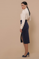 синяя юбка из замши. юбка мод. №41. Цвет: синий недорого