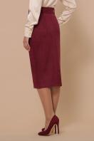 синяя юбка из замши. юбка мод. №41. Цвет: бордо цена