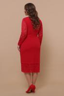 красное платье батал. платье Марика-Б д/р. Цвет: красный в интернет-магазине