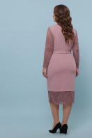 красное платье батал. платье Марика-Б д/р. Цвет: лиловый в интернет-магазине