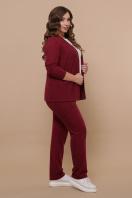 бордовый костюм для полных женщин. Костюм Трейси-Б. Цвет: бордо купить