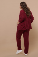 бордовый костюм для полных женщин. Костюм Трейси-Б. Цвет: бордо в интернет-магазине
