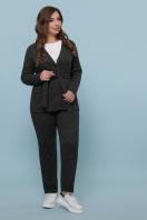 бордовый костюм для полных женщин. Костюм Трейси-Б. Цвет: черный цена