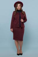батальная синяя юбка. юбка мод. №20-1 Б. Цвет: бордо недорого