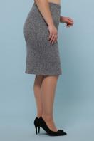 батальная синяя юбка. юбка мод. №20-1 Б. Цвет: серый купить