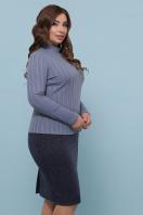батальная синяя юбка. юбка мод. №20-1 Б. Цвет: синий в интернет-магазине