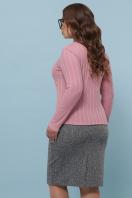 облегающая кофта для пышных женщин. Гольф-1Б. Цвет: т.розовый цена