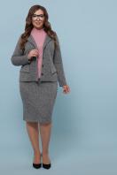 облегающая кофта для пышных женщин. Гольф-1Б. Цвет: т.розовый в интернет-магазине