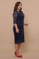 синее платье для полных женщин. платье Сания-Б 3/4. Цвет: синий цена