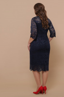 синее платье для полных женщин. платье Сания-Б 3/4. Цвет: синий в интернет-магазине
