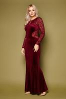 вечернее платье с вырезом на спине. платье Арабелла д/р. Цвет: бордо купить