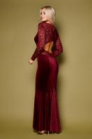 вечернее платье с вырезом на спине. платье Арабелла д/р. Цвет: бордо цена