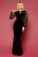вечернее платье с вырезом на спине. платье Арабелла д/р. Цвет: черный купить