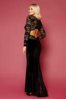вечернее платье с вырезом на спине. платье Арабелла д/р. Цвет: черный цена