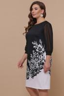 батальное черно-белое платье. Цветы черно-белые платье Талса-1Б д/р. Цвет: черный цена