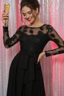 черное платье с прозрачными рукавами. платье Евангелина д/р. Цвет: черный цена