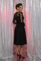 черное платье с прозрачными рукавами. платье Евангелина д/р. Цвет: черный в интернет-магазине