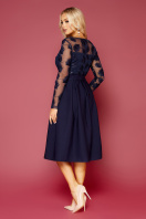 черное платье с прозрачными рукавами. платье Евангелина д/р. Цвет: синий цена