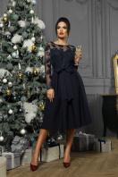 черное платье с прозрачными рукавами. платье Евангелина д/р. Цвет: синий в интернет-магазине