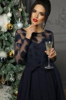 черное платье с прозрачными рукавами. платье Евангелина д/р. Цвет: синий в Украине