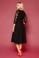 нарядное бежевое платье. платье Тифани д/р. Цвет: черный в интернет-магазине