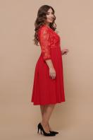 кружевное платье батал. платье Тифани Б д/р. Цвет: красный цена