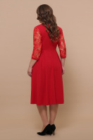 кружевное платье батал. платье Тифани Б д/р. Цвет: красный в интернет-магазине
