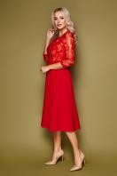 нарядное бежевое платье. платье Тифани д/р. Цвет: красный купить