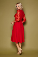 нарядное бежевое платье. платье Тифани д/р. Цвет: красный цена