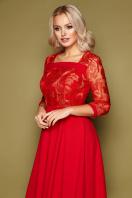 нарядное бежевое платье. платье Тифани д/р. Цвет: красный в интернет-магазине