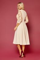 нарядное бежевое платье. платье Тифани д/р. Цвет: бежевый в интернет-магазине