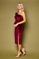 черное платье на одно плечо. платье Саманта д/р. Цвет: бордо купить