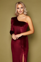 черное платье на одно плечо. платье Саманта д/р. Цвет: бордо цена