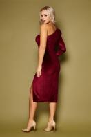 черное платье на одно плечо. платье Саманта д/р. Цвет: бордо в интернет-магазине